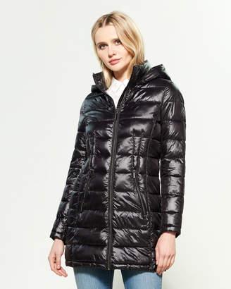 DKNY Hooded Full-Zip Packable Jacket