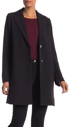 Tahari Women's Car Coats BLACK - Black Jayden Wool-Blend Car Coat - Women