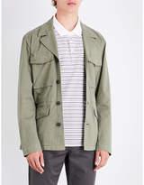 Michael Kors Notch-lapel Stretch-cotton Field Jacket