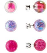 Charlotte Russe Double-Sided Stud Earrings - 3 Pack
