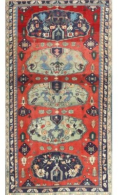 Divina Bloomsbury Market Traditional Red/Green Area Rug Bloomsbury Market Rug Size: Round 3'