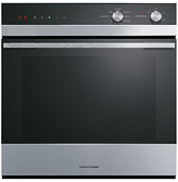 Fisher & Paykel OB60SC7CEX1 Built-In Single Electric Oven, Stainless Steel / Black