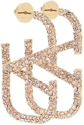 Valentino VLOGO embellished earrings