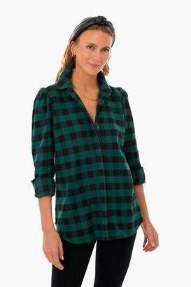 Green and Black Plaid Saranac Shirt