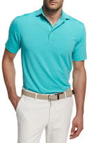 Peter Millar Commander Striped Short-Sleeve Jersey Polo Shirt