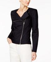 Calvin Klein Asymmetrical-Zip Blazer