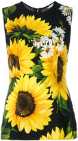 Dolce & Gabbana sunflower print tank top - women - Viscose - 38