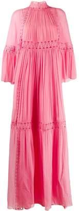 Alberta Ferretti embroidered flared maxi dress