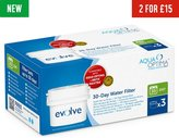 Aqua Optima Evolve Water Filter Cartridges - 3 Pack
