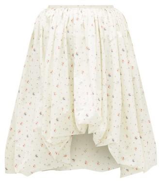 Molly Goddard Britta Puffed Floral-print Cotton Skirt - Cream Print