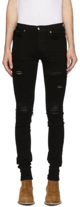 Amiri Black Denim Quilted Leather Jeans
