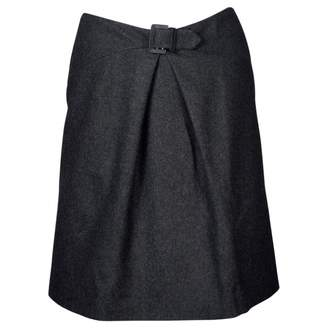 Chanel Anthracite Wool Skirts