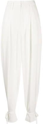 Isabel Marant Tied-Cuff Tapered Trousers