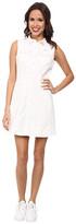 Lacoste L!ve Sleeveless Snap Front Shirt Dress