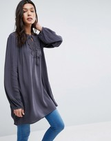 B.young Long Sleeve Tunic With Lace Insert