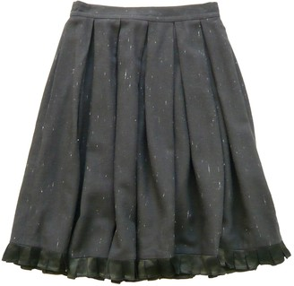Betty Jackson Black Wool Skirt for Women