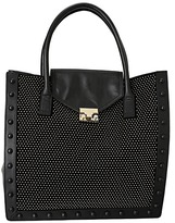 Loeffler Randall Work Tote-NSST (Black/Gold) - Bags and Luggage