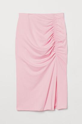 H&M Gathered jersey skirt