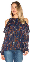 WAYF Downtown Lights Cold Shoulder Top