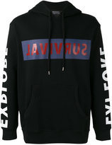 Markus Lupfer 'survival' print hoodie - men - Cotton - XS