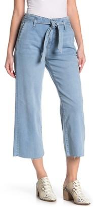 Mavi Jeans Cristin Tie Wide Leg Crop Jeans