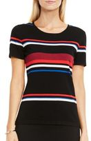 Vince Camuto Short Sleeve Striped Sweater