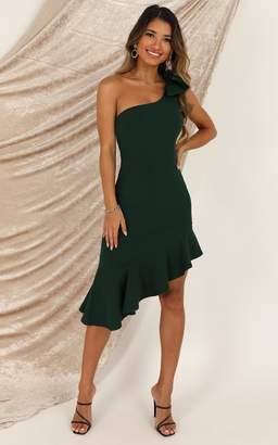 Showpo Listen To The Radio dress in emerald green - 8 (S) Wedding