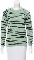 Proenza Schouler Tiger Print Crew Neck Sweater