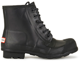 Hunter Men's Original Lace Up Rubber Rigger Boots Black