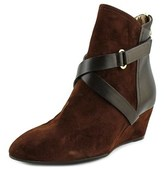 Dana Davis Petra Women Round Toe Leather Brown Ankle Boot.