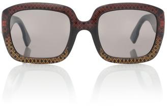 Christian Dior DDior square acetate sunglasses