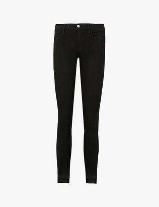 Frame Ladies Black Cotton Le Skinny Mid-Rise Jeans, Size: 23