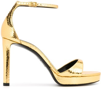 Saint Laurent Snake-Effect Sandals