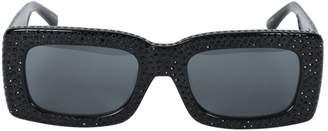 Linda Farrow x the attico stella rectangular embellished sunglasses