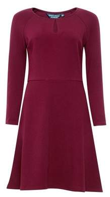 Dorothy Perkins Womens Port Keyhole Seamed Fit And Flare Dress