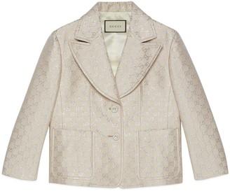 Gucci Light GG lame jacket