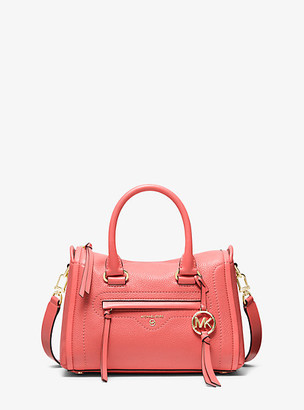 Michael Kors Carine Small Pebbled Leather Satchel