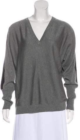 148 Metallic V-Neck Sweater