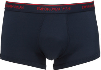 Emporio Armani Men's Logo-Print Microfiber Boxer Briefs