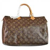 Louis Vuitton Speedy cloth satchel