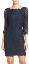 Adrianna Papell Women's Lace Overlay Sheath Dress