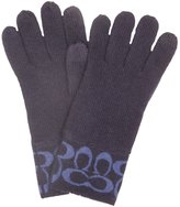 Coach Signature Logo Knit Glove with Fingertip TECH