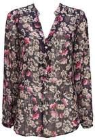 Wallis Navy Floral Print Blouse