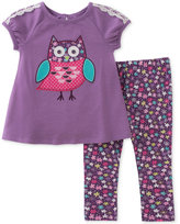 Kids Headquarters 2-Pc. Owl-Graphic Top and Leggings Set, Toddler and Little Girls (2T-6X)
