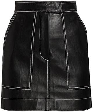 LVIR Pleasant Utility Faux Leather Stitch Mini Skirt