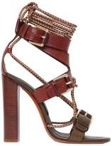 Etro 105mm Rope & Leather Bi Color Sandals
