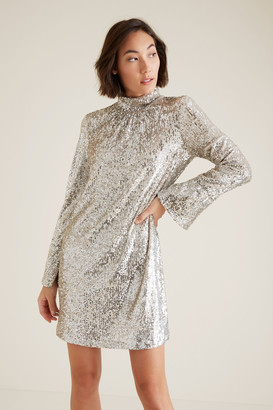 Seed Heritage High Neck Sequin Dress