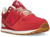New Balance Boys' 574 Collegiate Casual Sneakers from Finish Line