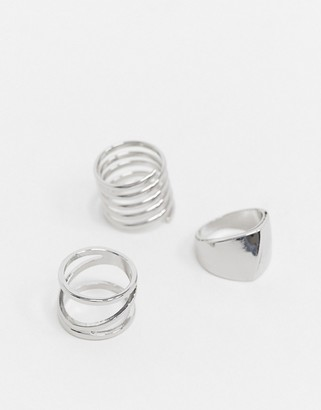 Liars & Lovers ring 3 multipack in silver stacking