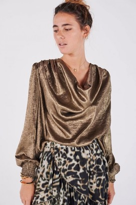 Swildens Cansu Gold Lame Top - 10
